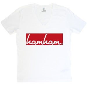 Image of hamham. - V-Neck Weiß - Mann