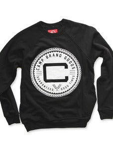 Image of OLDS CREST CREWNECK SWEATSHIRT | TRI-BLACK
