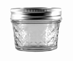 Image of NEW! Ball 4 oz Quilted Crystal Jars