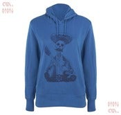 Image of Day of the Dead Blue Hoody (Girls Organic)