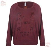 Image of No More Chess Cranberry Batwing Pullover (Girls)