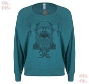 Image of Laughter Tri-Evergreen Batwing Pullover (Girls)