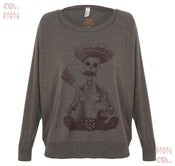 Image of Day Of The Dead Coffee Batwing Pullover (Girls)