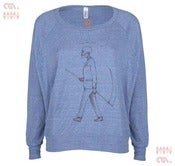 Image of Mr Death Athletic Blue Batwing Pullover (Girls)