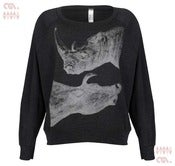 Image of Zoo Tri-Black Batwing Pullover (Girls)