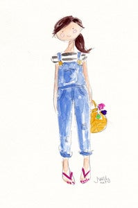 Image of OVERALLS 1 - ORIGINAL WATERCOLOR