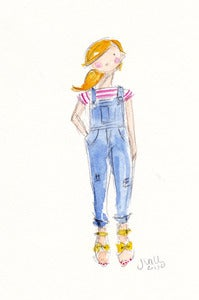 Image of OVERALLS 2 - ORIGINAL WATERCOLOR