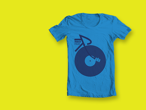 Image of ORGANIC TRACK T-SHIRT - BLUE