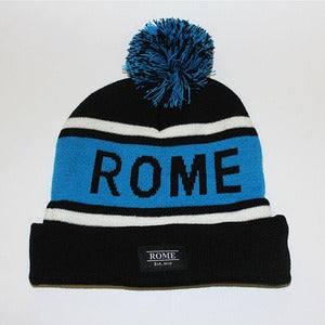 Image of ROME Black and Blue Beanie