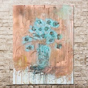 Image of copper flowers 24 x 30