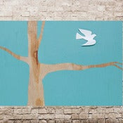 Image of  light blue dove 18 x 24
