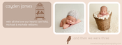 Image of Peahead Prints: Simply Stated Timeline Cover Template 1