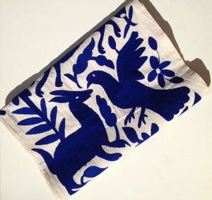 Image of Cobalt Blue Otomi Runner/ Wall Hanging