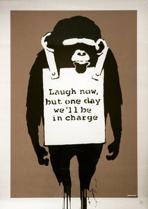 Image of &quot;Laugh Now&quot; unsigned ltd edition screen-print by Banksy