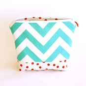 Image of wet bag - turquoise chevron