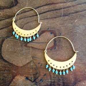 Image of Turquoise Crescent Earrings