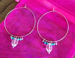 Image of Crystal Oval Hoops