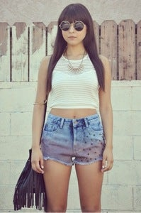 Image of Studded Ombre High Shorts