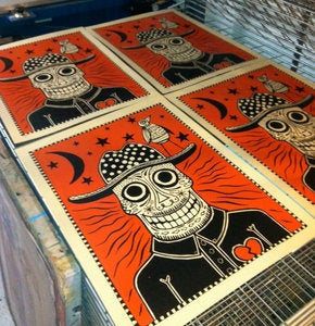 Image of Sugar Skull Cowboy Art Print