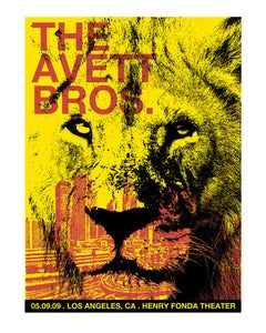 Image of The Avett Brothers Concert Poster, Los Angeles, CA
