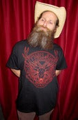 "Image of The Law Band ""Dust and Aether"" Men's Concert T-Shirt, Black w/Red Logo"