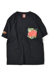 Image of LAFAYETTE ×NRL SMOKIN' MUSICAL ALOHA POCKET TEE BLACK