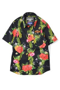 Image of LAFAYETTE ×NRL SMOKIN' MUSICAL COTTON ALOHA SHIRT ALOHA