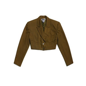 Image of CROPPED MILITARY STYLE JACKET