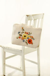 Image of VINTAGE Ribbon embroidered bag