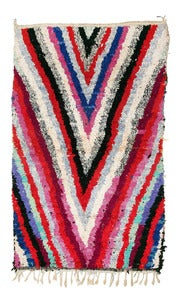 Image of LARGE Boucherouite Rag Rug - Arrow