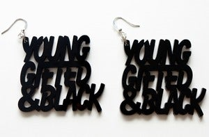 Young, Gifted & Black earrings
