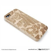 Image of Filter017 LAND OF LOST CAMOUFLAGE WOOD ENGRAVED iPHONE5 CASE
