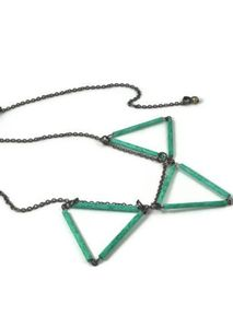 Image of Bunting Necklace Emerald Green