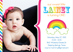 Image of Rainbow Party Invitation