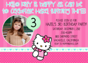 Image of Hello Kitty Minted Invitation