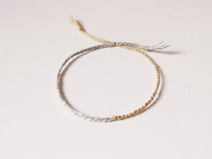 Image of Mixed yarn grey bracelet