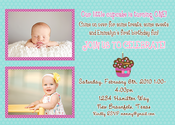 Image of Polka Dotty Cupcake Invitation