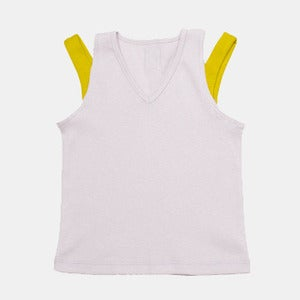 Image of V-Neck Tank - Violet+Yellow