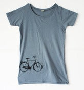 Image of Womens Blue Bike Tee