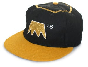 Image of Ebbets x UNDRCRWN BLACK ANGELS STRAP BACK HAT | black/gold