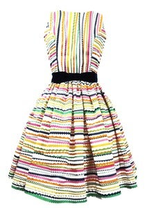 Image of Rainbow Ric Rac Stripe Dress - Limited Edition
