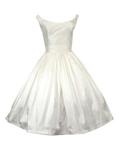 Image of MEG Silk tea length wedding dress MADE TO ORDER