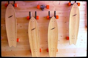 Image of Fish Tail LongBoards w/ Carver Trucks