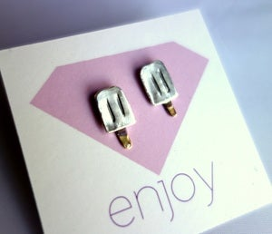Image of Handmade Sterling Silver Popsicle Studs