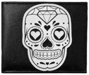 Image of Sourpuss Black Sugar Skull Wallet