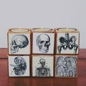 Image of Decoupaged Reclaimed Wooden Candle Blocks