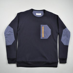 Image of FREEBASE SWEATER - NAVY POLKADOT