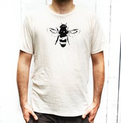 Image of Mens White Bee Tee