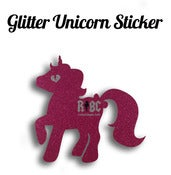 Image of Glitter Unicorn Sticker