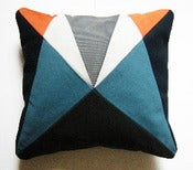 Image of Fun Makes Good AU Cushion - Grey, Blue, Orange